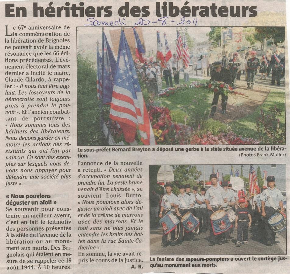 Libération Brignoles 2011