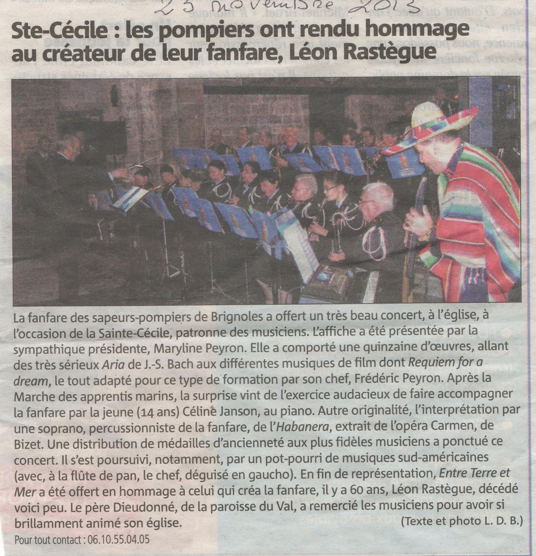 Ste Cécile 2013