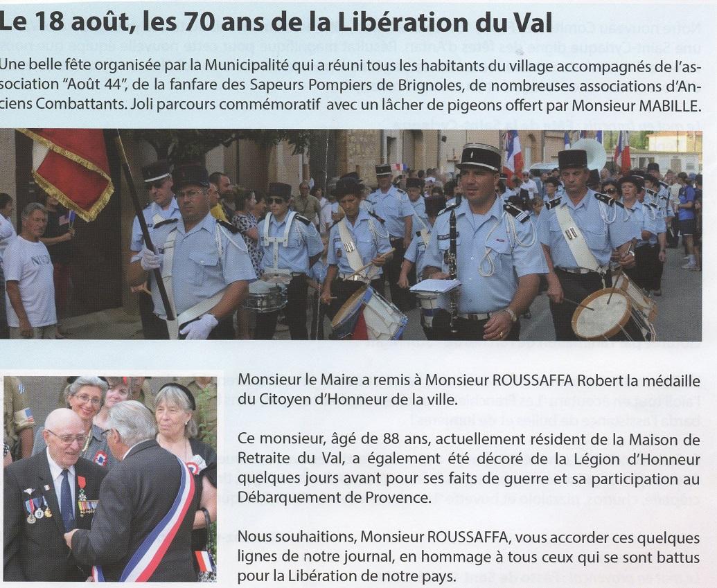 Libération Le Val 2014