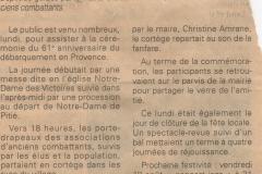 Libération Collobrières - 2005
