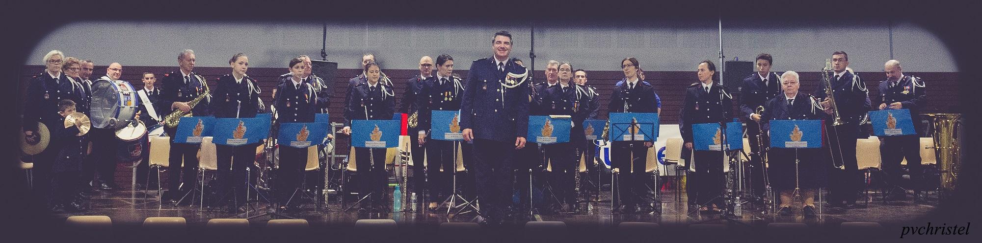 La Musique des Sapeurs Pompiers de Brignoles lors d'un concert à Manosque, le 31 janvier 2016